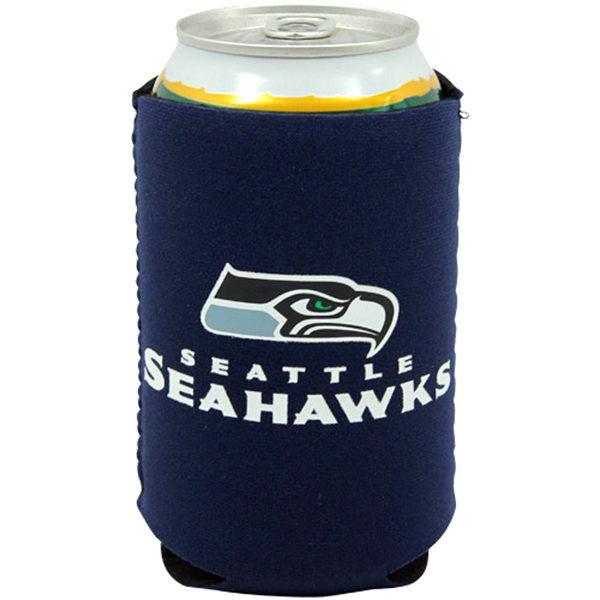 SEATTLE SEAHAWKS BEER SODA WATER CAN BOTTLE KOOZIE KADDY HOLDER NFL FOOTBALL