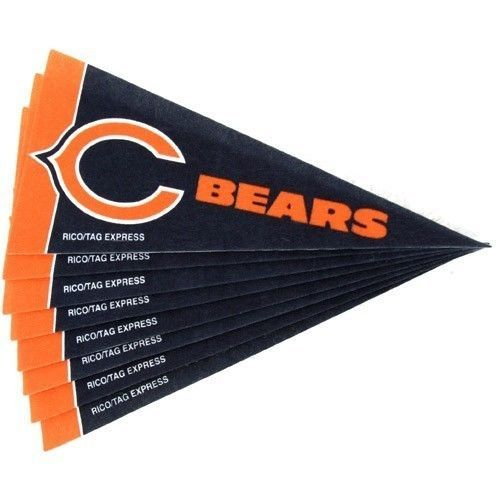 CHICAGO BEARS 8 PIECE FELT MINI PENNANTS SET PACK NFL FOOTBALL