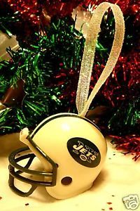CHRISTMAS BELL FOOTBALL HELMET ORNAMENT NEW YORK JETS