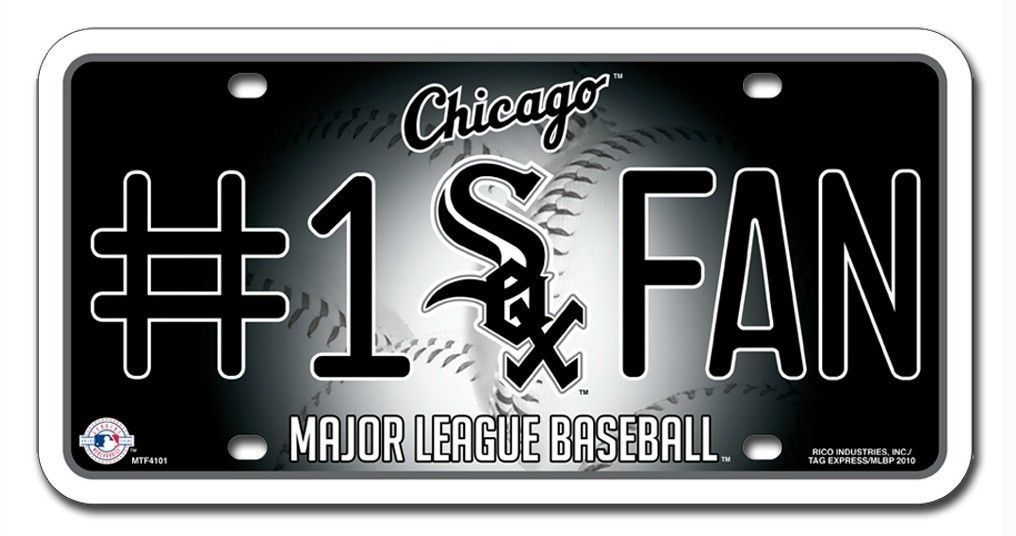 CHICAGO WHITE SOX #1 FAN CAR AUTO METAL LICENSE PLATE TAG MLB BASEBALL