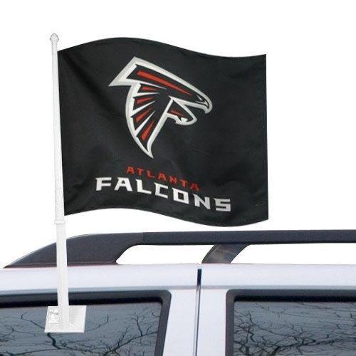 ATLANTA FALCONS CAR AUTO FLAG BANNER & POLE 2 SIDED NFL FOOTBALL
