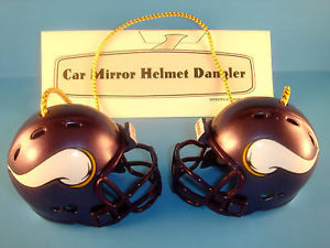 MINNESOTA VIKINGS CAR MIRROR NFL FOOTBALL HELMET DANGLER - HANG FROM ANYTHING!