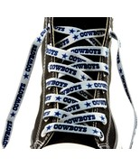 "DALLAS COWBOYS SILVER TEAM SHOE LACES 54"" *LACEUPS* GAME DAY PARTY NFL F... - $5.13"