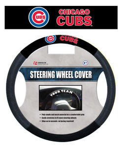 CHICAGO CUBS MESH SUEDE CAR AUTO STEERING WHEEL COVER