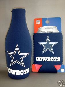 BEER/SODA BOTTLE & CAN KOOZIE HOLDER DALLAS COWBOYS