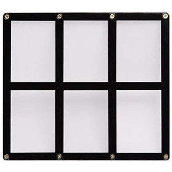 6 TRADING CARD BLACK FRAME SCREWDOWN ULTRA CLEAR HOLDER by ULTRA PRO