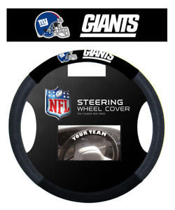 NEW YORK GIANTS NFL SUEDE MESH CAR STEERING WHEEL COVER