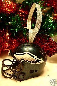 CHRISTMAS BELL FOOTBALL HELMET ORNAMENT PHILADELPHIA EAGLES