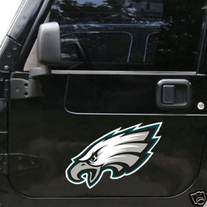 "PHILADELPHIA EAGLES BIG 12"" CAR FRIDGE (TEAM LOGO) MAGNET  NFL FOOTBALL"