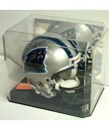 FREE SHIP MINI FOOTBALL HELMET CRYSTAL CLEAR MIRROR BACK DISPLAY CASE PR... - $20.59