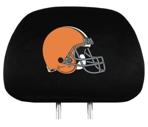 CLEVELAND BROWNS CAR AUTO 2 TEAM HEADREST COVERS NFL FOOTBALL
