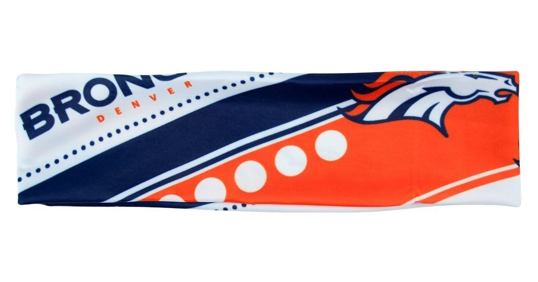 DENVER BRONCOS STRETCH PATTERNED HEADBAND GAME TAILGATE PARTY TEAM NFL FOOTBALL