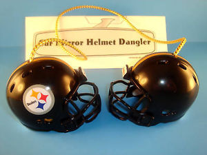 PITTSBURGH STEELERS CAR/HOUSE NFL FOOTBALL HELMET KNOCKERS-Hang from Anything!