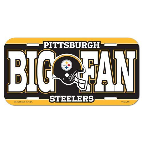 PITTSBURGH STEELERS *BIG FAN* CAR AUTO LICENSE PLATE TAG NFL FOOTBALL