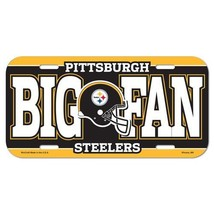 PITTSBURGH STEELERS *BIG FAN* CAR AUTO LICENSE PLATE TAG NFL FOOTBALL - $6.83