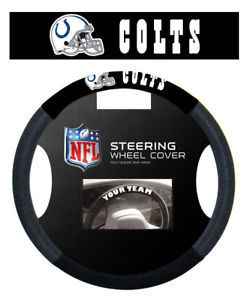 INDIANAPOLIS COLTS SUEDE MESH CAR STEERING WHEEL COVER