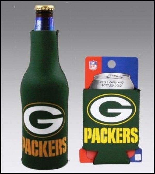 GREEN BAY PACKERS BEER SODA CAN KADDY & BOTTLE KOOZIE HOLDER NFL FOOTBALL
