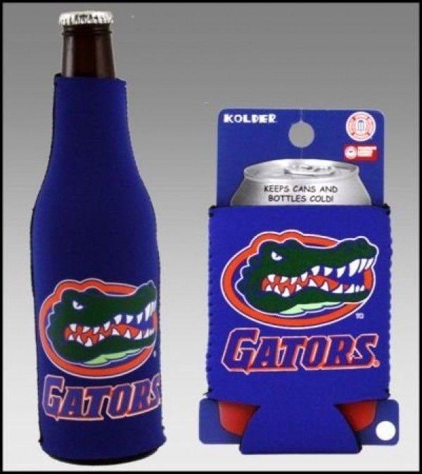 FLORIDA GATORS BEER SODA WATER BOTTLE & CAN KOOZIE COOLIE HOLDER NCAA
