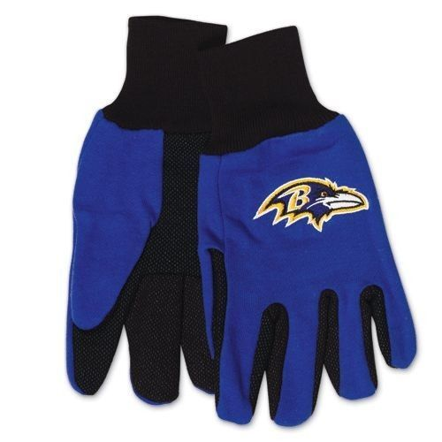 BALTIMORE RAVENS TAILGATE GAME DAY PARTY UTILITY WORK GLOVES NFL FOOTBALL