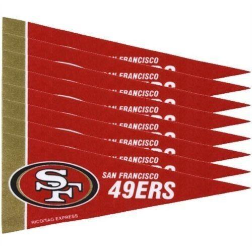 SAN FRANCISCO 49ERS 8 PIECE FELT MINI PENNANTS SET PACK NFL FOOTBALL