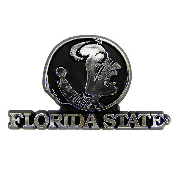 FLORIDA STATE SEMINOLES CAR AUTO 3-D CHROME SILVER TEAM LOGO EMBLEM