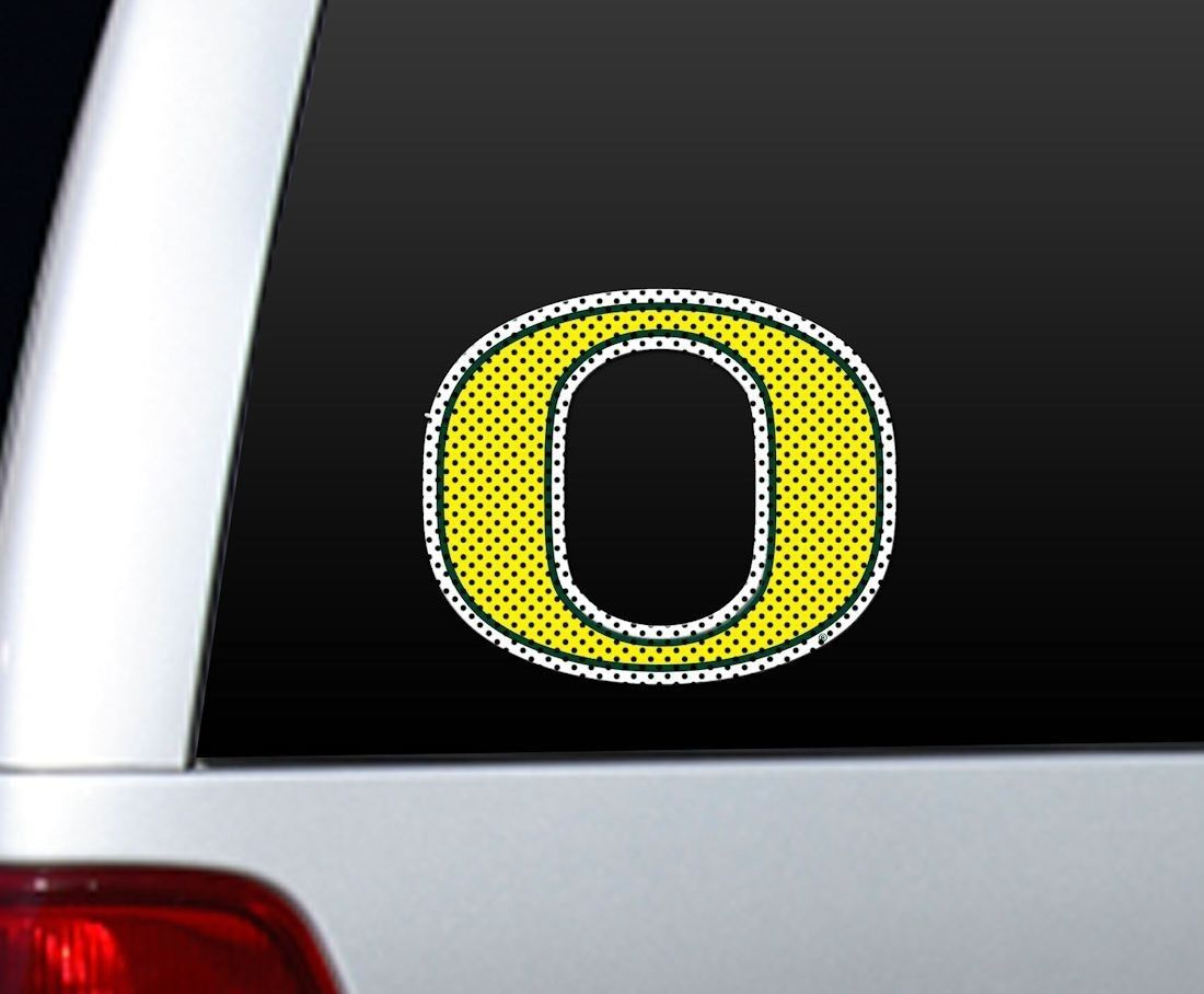 "*BIG* 12"" OREGON DUCKS CAR HOME PERFORATED WINDOW FILM DECAL"