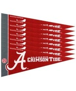 ALABAMA CRIMSON TIDE 8 PIECE MINI PENNANTS SET PACK of FELT TEAM LOGO & ... - $6.75