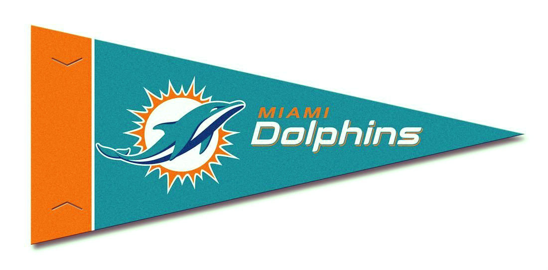 MIAMI DOLPHINS 8 PIECE FELT MINI PENNANTS SET PACK NFL FOOTBALL