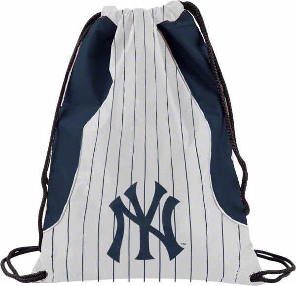 NEW YORK YANKEES BACK SACK PACK SCHOOL GYM BAG MLB BASEBALL