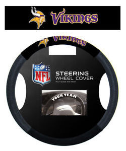 MINNESOTA VIKINGS MESH SUEDE CAR STEERING WHEEL COVER NFL FOOTBALL