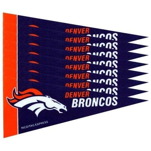 DENVER BRONCOS 8 PIECE FELT MINI PENNANTS SET PACK NFL FOOTBALL