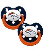 DENVER BRONCOS 2-PACK BABY INFANT PACIFIER SET NFL FOOTBALL - $7.21