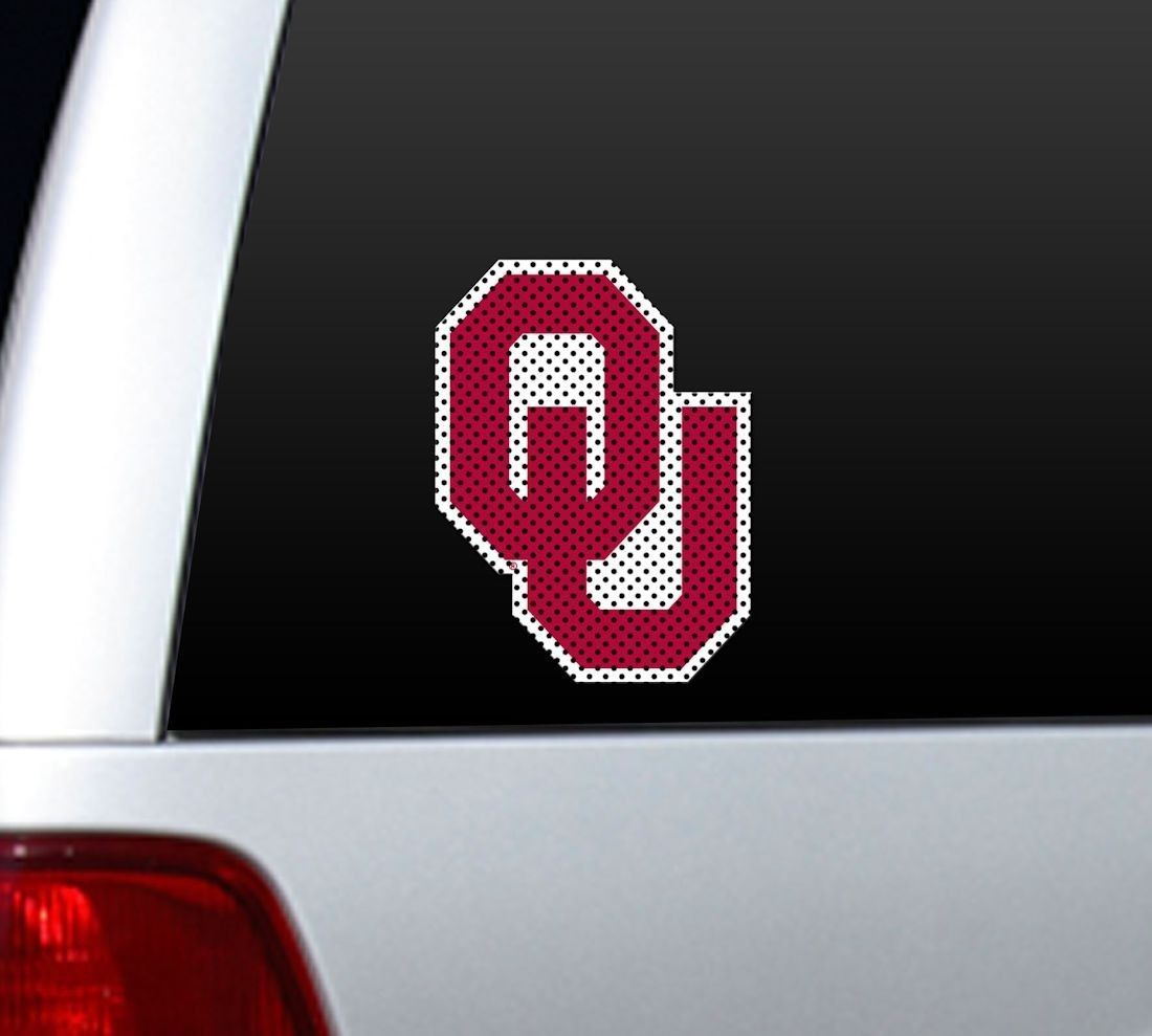 "*BIG* 12"" OKLAHOMA SOONERS CAR HOME PERFORATED WINDOW FILM DECAL"
