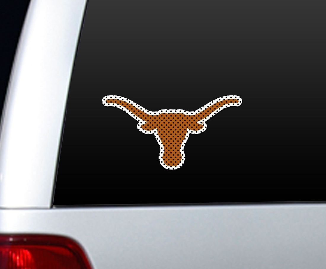 "*BIG* 12"" TEXAS LONGHORNS CAR HOME PERFORATED WINDOW FILM DECAL"