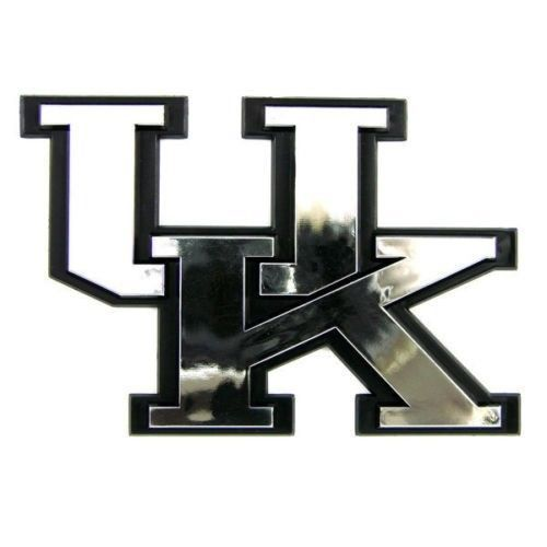 KENTUCKY WILDCATS CAR AUTO 3-D CHROME SILVER TEAM LOGO EMBLEM