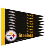 PITTSBURGH STEELERS 8 PIECE FELT MINI PENNANTS SET PACK NFL FOOTBALL - $6.82