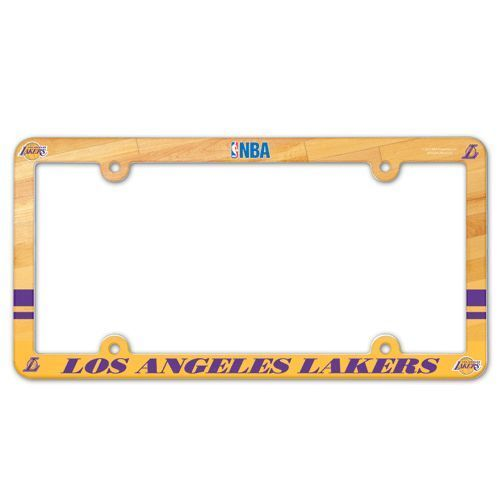 LOS ANGELES LAKERS COLOR CAR AUTO PLASTIC LICENSE PLATE TAG FRAME NBA BASKETBALL