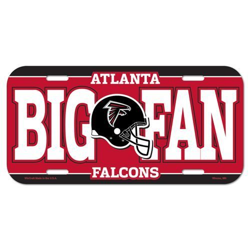 ATLANTA FALCONS *BIG FAN* CAR AUTO LICENSE PLATE TAG NFL FOOTBALL