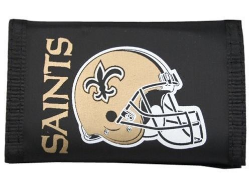 NEW ORLEANS SAINTS NFL FOOTBALL TEAM NYLON TRIFOLD WALLET