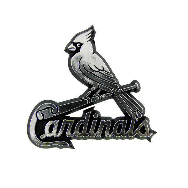 ST LOUIS CARDINALS CAR AUTO 3-D CHROME SILVER TEAM LOGO EMBLEM MLB BASEBALL