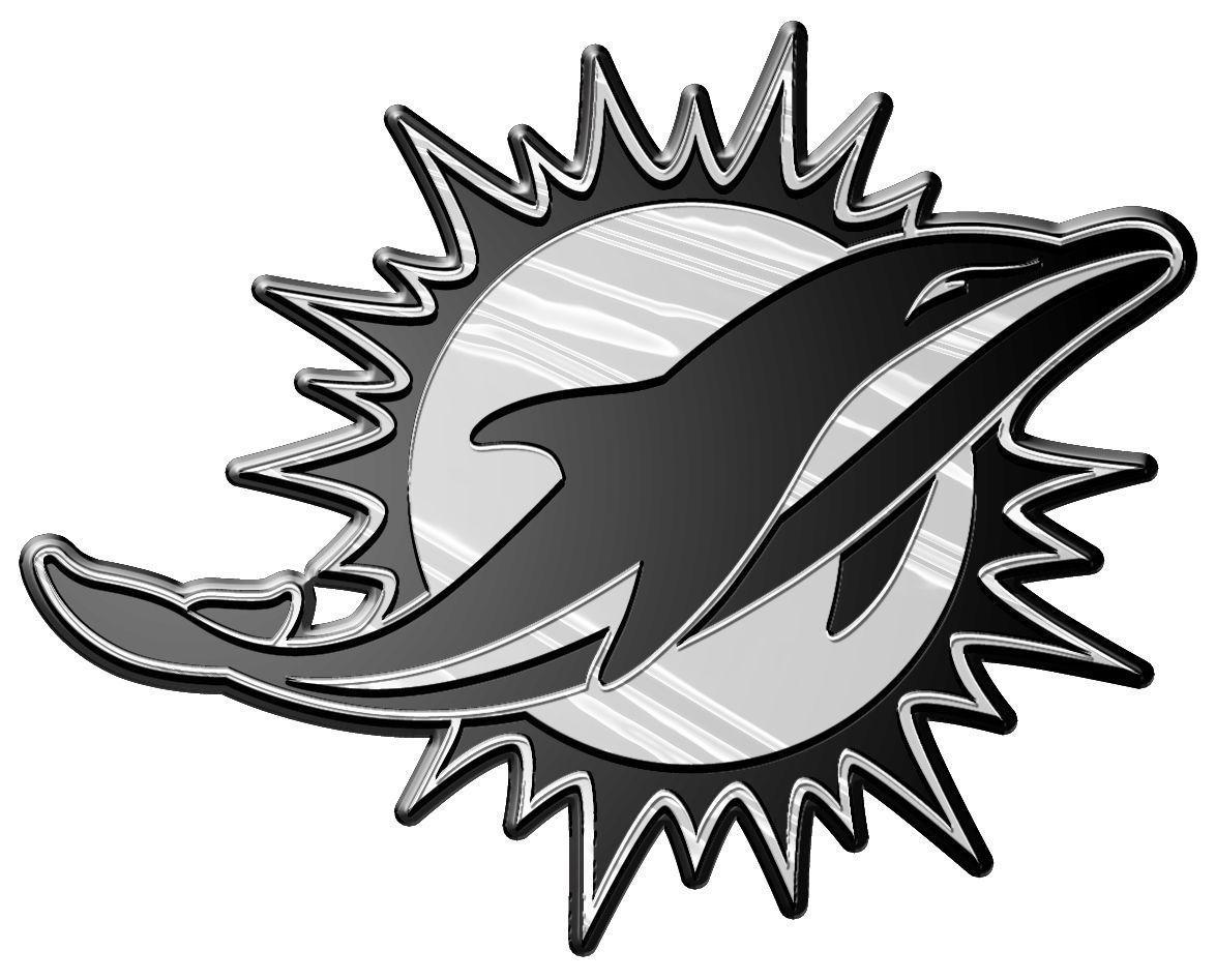 MIAMI DOLPHINS CAR AUTO 3-D CHROME SILVER TEAM LOGO EMBLEM NFL FOOTBALL
