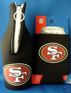 SAN FRANCISCO 49ERS BEER SODA WATER BOTTLE & CAN KOOZIE HOLDER NFL FOOTBALL