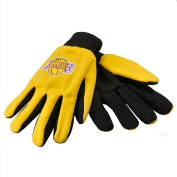 LOS ANGELES LAKERS TEAM TAILGATE GAME DAY PARTY WORK GLOVES NBA BASKETBALL