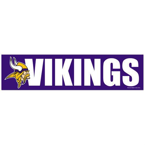 """MINNESOTA VIKINGS CAR BUMPER STICKER DECAL 3"""" X 12"""" STRIP NFL FOOTBALL"""