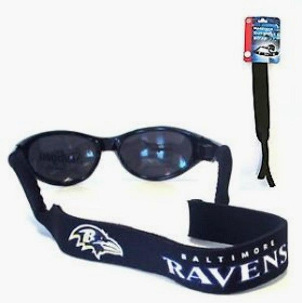 BALTIMORE RAVENS CROAKIES SUNGLASSES EYEGLASS STRAP NFL FOOTBALL