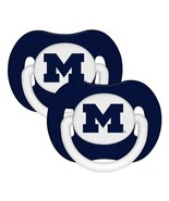 MICHIGAN WOLVERINES 2-PACK BABY INFANT PACIFIER... - $7.22
