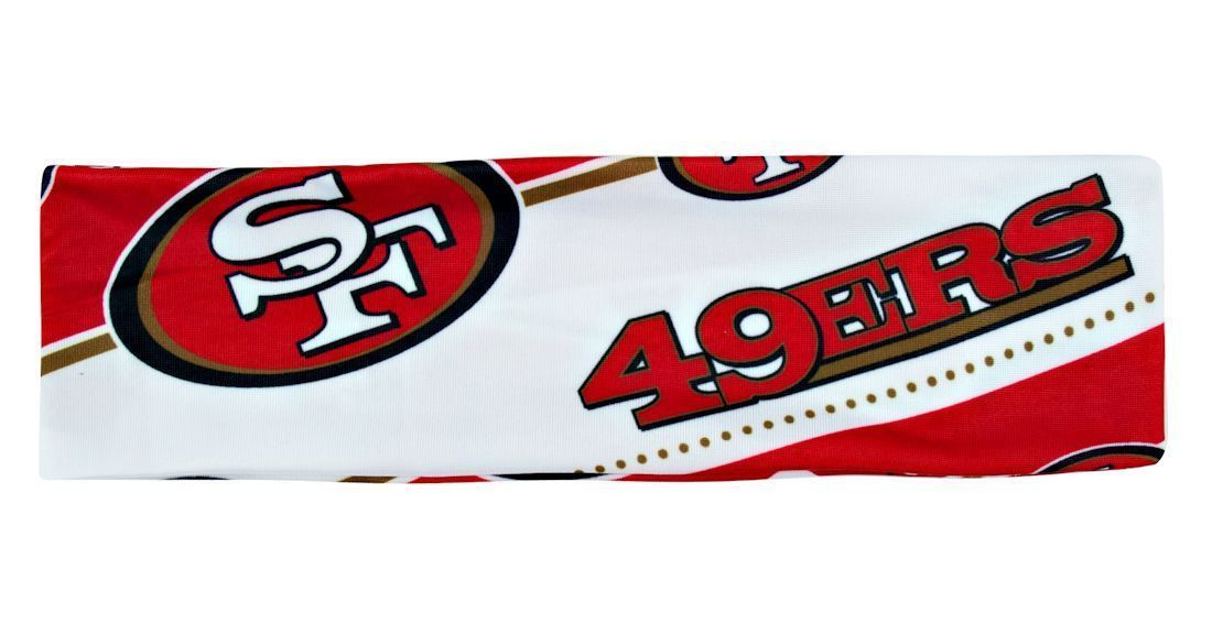 SAN FRANCISCO 49ERS STRETCH PATTERN HEADBAND GAME TAILGATE PARTY NFL FOOTBALL