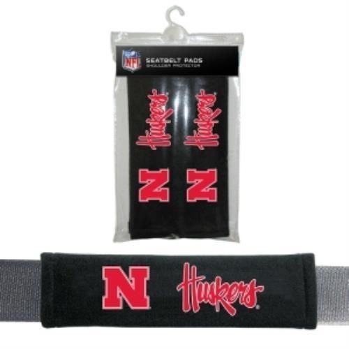 NEBRASKA HUSKERS 2 VELOUR SEAT BELT LAPTOP GYM BAG SHOULDER PADS