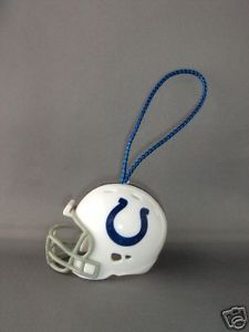 FOOTBALL HELMET CHRISTMAS ORNAMENT INDIANAPOLIS COLTS