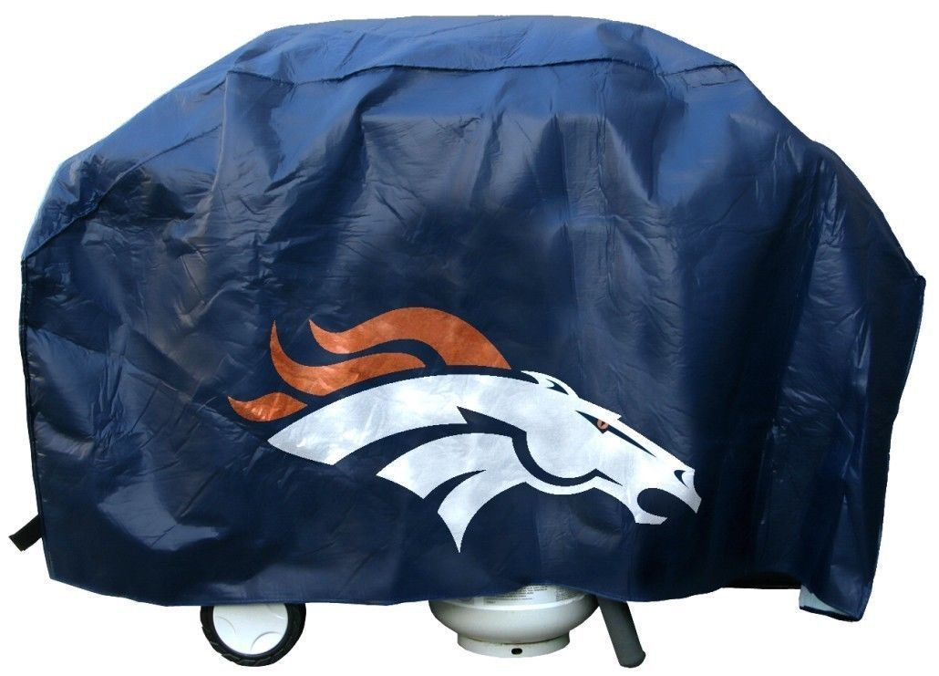 DENVER BRONCOS ECONOMY BARBEQUE BBQ GRILL COVER NFL FOOTBALL